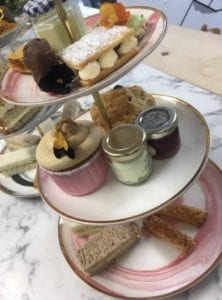 afternoon tea display at Ayscoughfee Hall Cafe